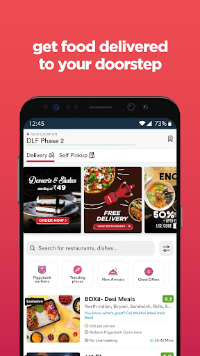 Screenshot for Zomato - Restaurant Finder and Food Delivery App in United States Play Store