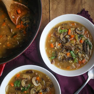 Mushroom and Barley Soup.
