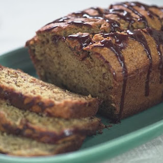 Banana Bread with Chocolate Drizzle