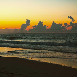 Abstract clouds over Surf City by Mark Perkins - Landscapes Cloud Formations