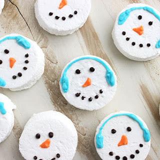 Snowman Marshmallow Hot Cocoa Toppers