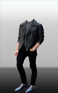 Men Leather Jacket Photo Suit screenshot 9