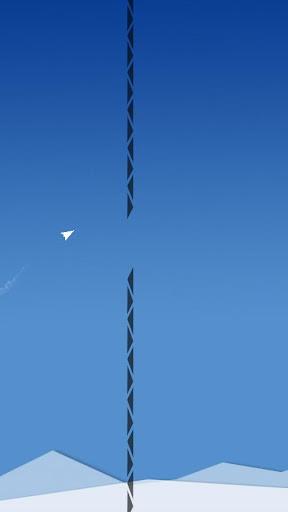 滑翔蓝天上的纸飞机
