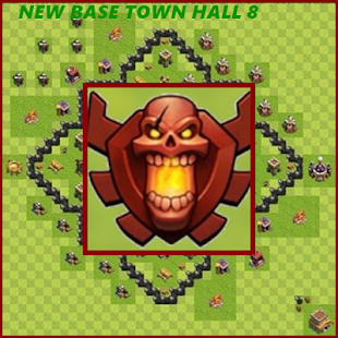 New coc Base Town Hall 8 - náhled