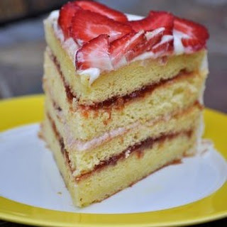 Strawberry Lemonade Chiffon Layer Cake