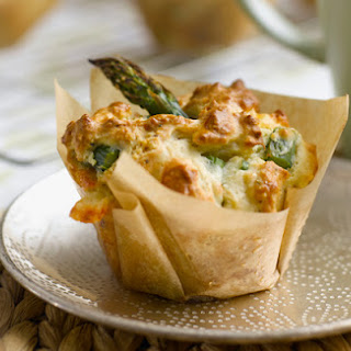 Asparagus and Cheese Brunch Muffins.