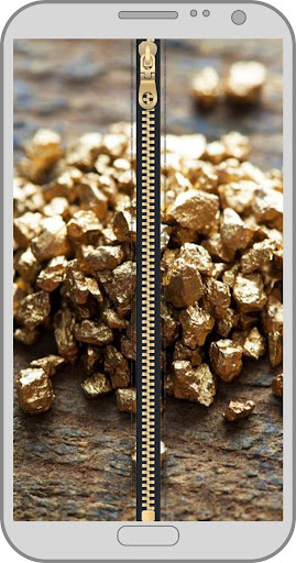 Gold Zipper Lock Screen