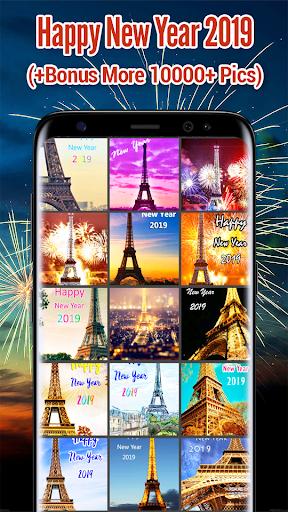 New Year 2019 Wallpaper (Eiffel) 2.0 screenshots 1