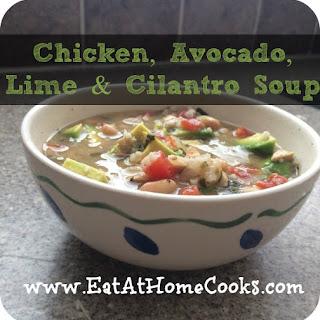 Chicken, Avocado, Lime, and Cilantro Soup.