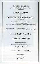 Photo: Programa d'un dels concerts que Toldra va donar a la Salle Pleyel de París amb l'Orquestra Lamoureux