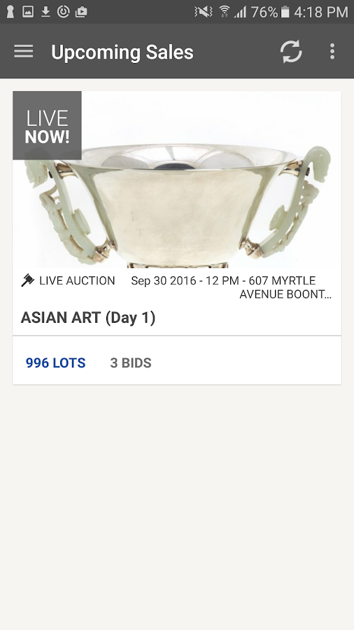Millea Bros. Auctions- screenshot