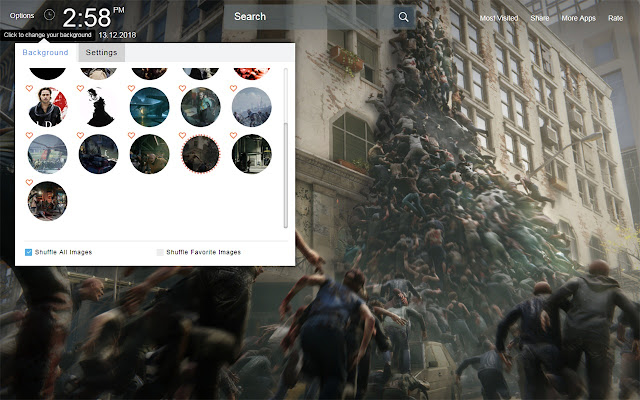 World War Z Wallpapers Theme New Tab
