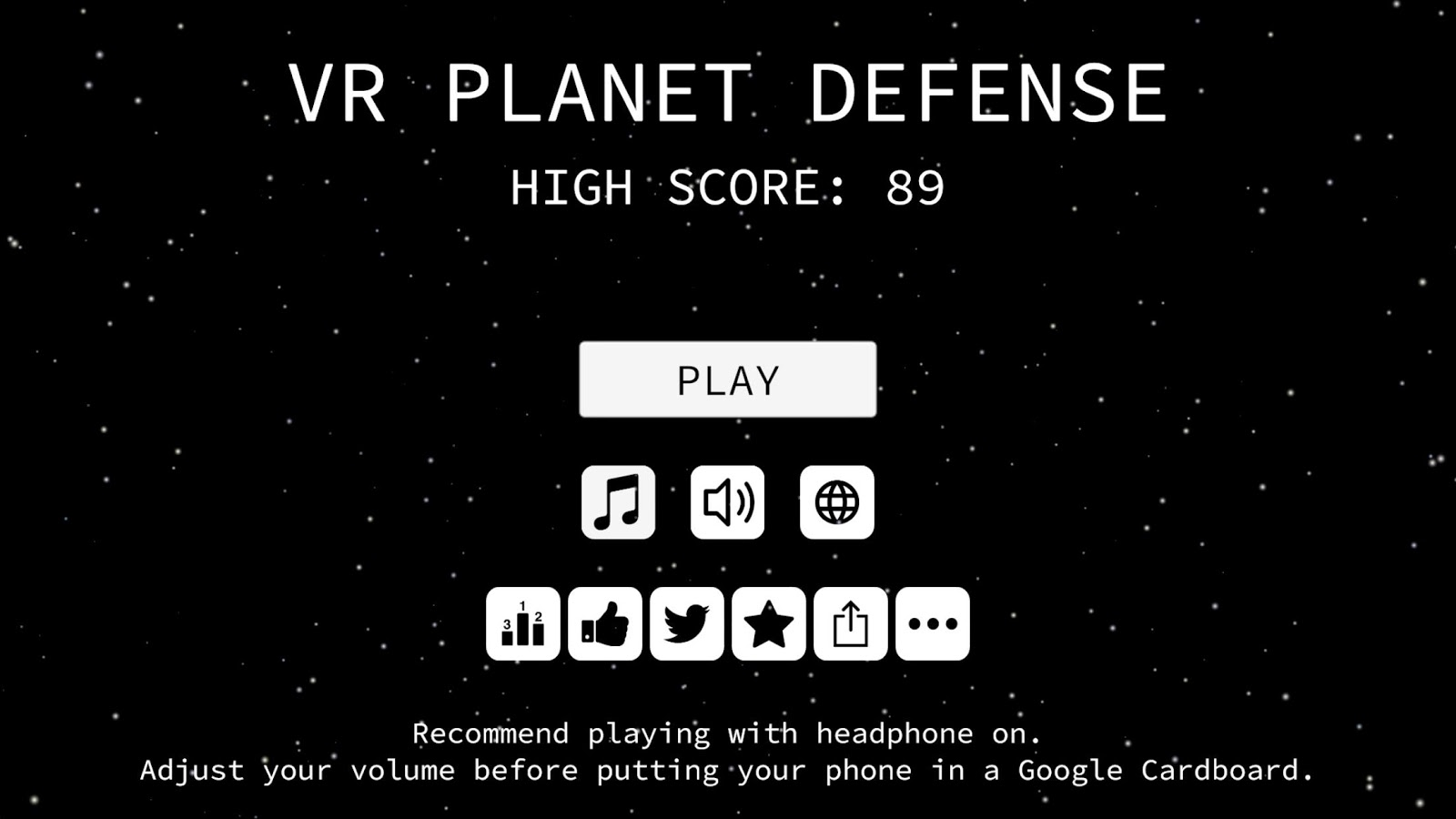 VR Planet for Cardboard- screenshot