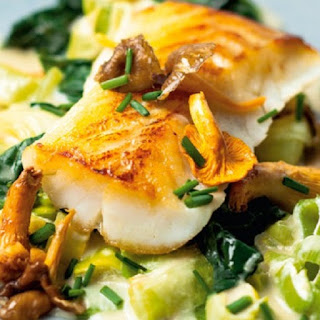 Baked Cod Fillets with Onions and Leeks