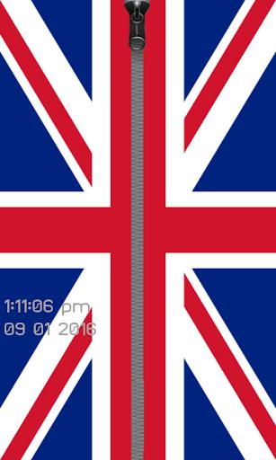 英国旗ジッパー電話ロック