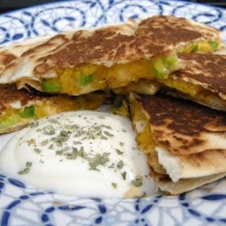 Chicken Jalapeno Mango Quesadillas.