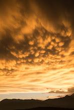 Photo: Mammatus clouds!