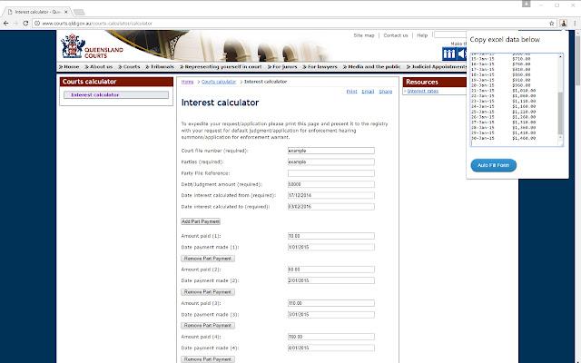 QLD Court Calculator Assistant