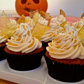 Spiced Apple Cupcakes with Salted Caramel Italian Meringue Buttercream