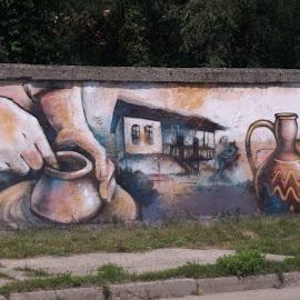 Стил by Georgi Kolev - Artistic Objects Other Objects ( стена., рисунка., трева., път., цветове. )