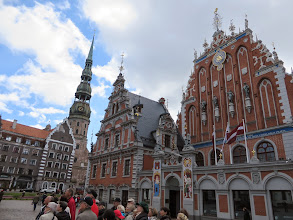 Photo: Blackheads, St Peter's church as seen from Ratslaukums Square