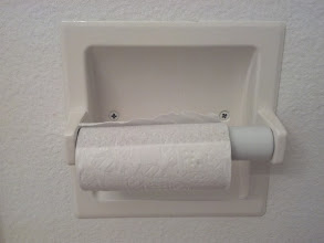 Photo: Someone in my house apparently believes this is an appropriate amount of toilet paper for the next user.