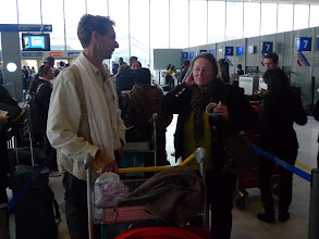 Photo: With my friend Kors, at the airport, 23 october, flying to New Delhi