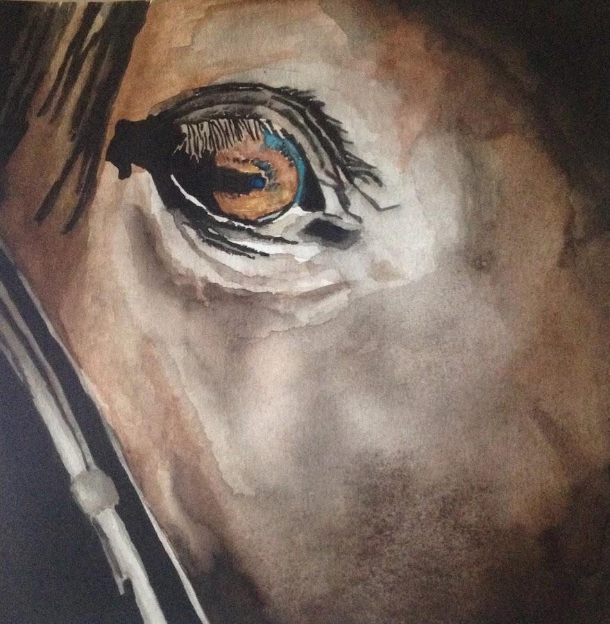 The Horse Eye by Amalia Sandalj - Painting All Painting ( watercolors, art, horse, painting, animal )