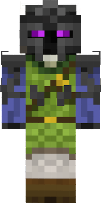 has lost his ability to teleport after going in armor to the overworld but not the power to following his master the one who helped him through his toughist times in the end now he lives in his own house on a mountain waiting to find someone who gets hurt in the same way as his master did 6 years ago