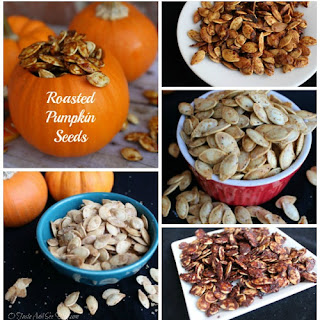 Sweet and Savory Roasted Pumpkin Seeds.