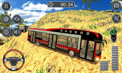 Hill Bus Climbing Sim 2019 - Offroad Bus Driving  captures d'écran 1