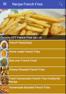 Recipe French Fries - náhled