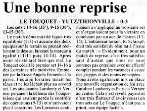 Photo: 13-01-97 N2F Yutz-Thionville confirme au Touquet 0-3