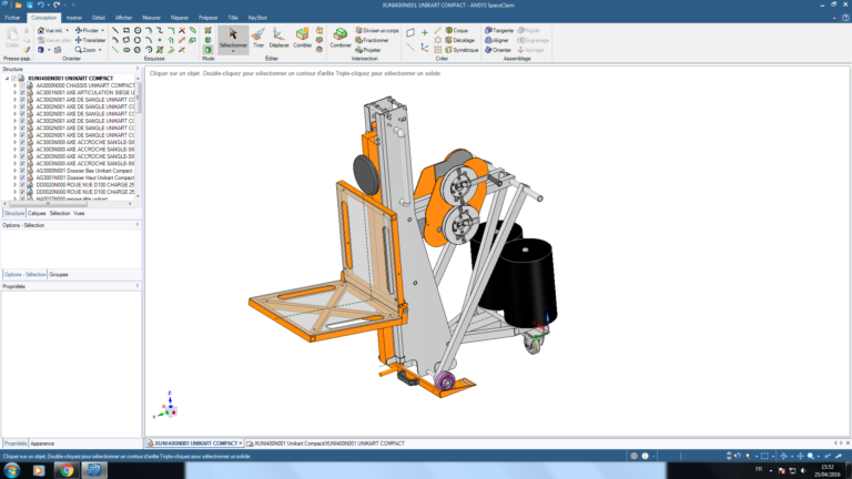 ANSYS SpaceClaim Проект Unikart Compact