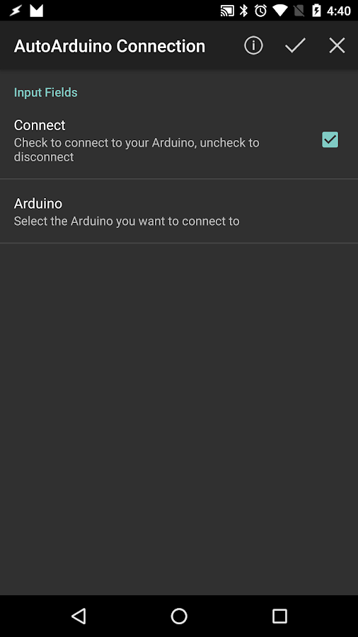 AutoApp for Arduino- screenshot