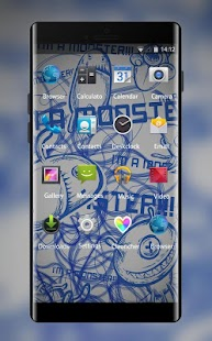 Abstract Graffiti Theme for Intex Aqua Ace Mini - náhled