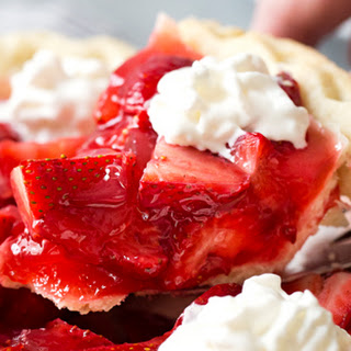 Copycat Frisch's Big Boy Fresh Strawberry Pie.