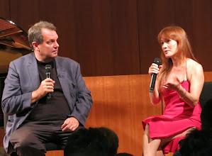 Photo: Gary Glazner interviews Hannah Reimann.