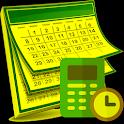 Age Date of Birth Calculator Week Nr. Calendar icon