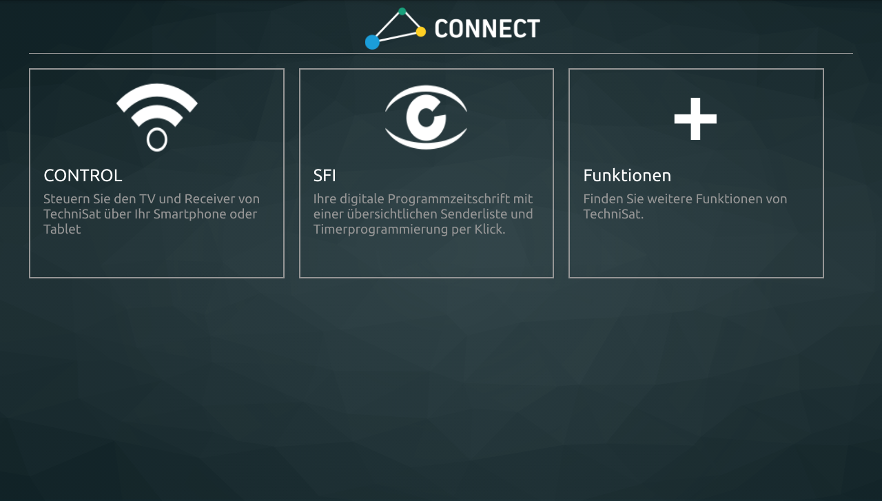 TechniSat CONNECT – Screenshot