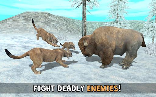 Wild Cougar Sim 3D apkpoly screenshots 4