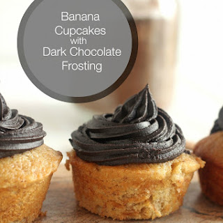 Banana Cupcakes with Dark Chocolate Frosting