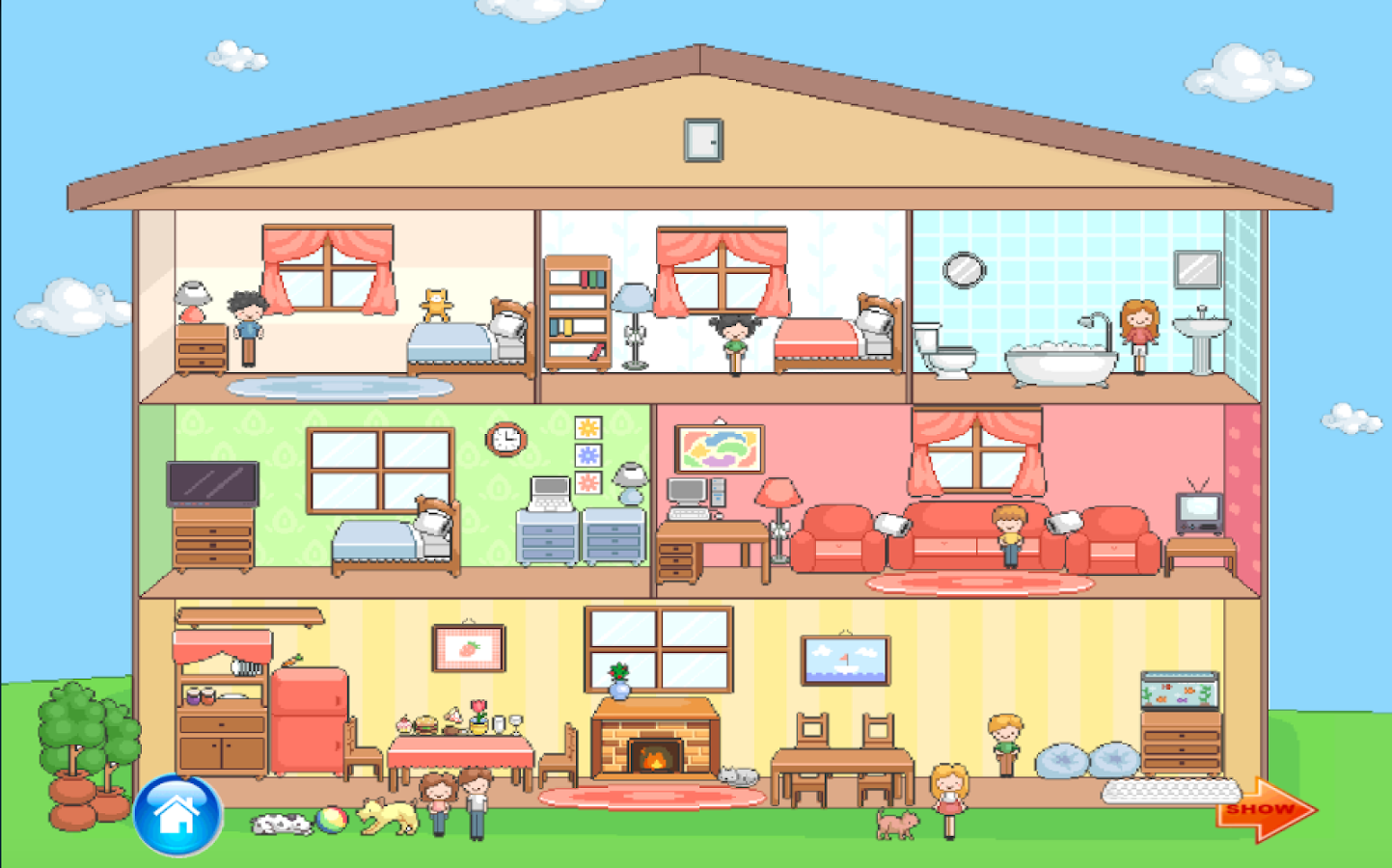 Doll house japanese decoration android apps on google play Decorating a home games