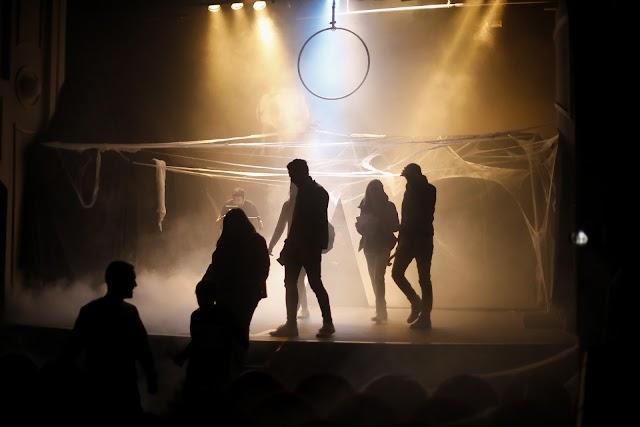 Escenario del Teatro Apolo la noche del 31 de octubre 2018