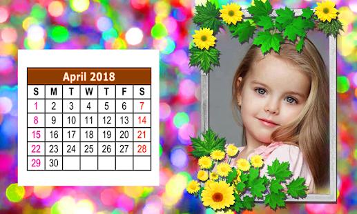 Happy New Year Calendar Photo Frame 2018 - náhled