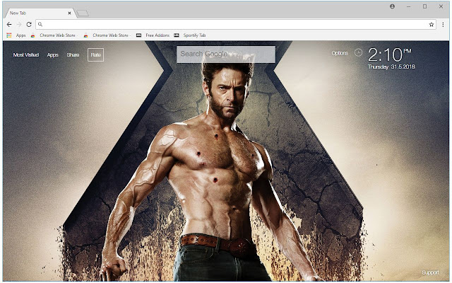 X Men Wolverine HD Wallpaper Marvel New Tab