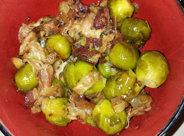 Brussels Sprouts With Easy Hot Bacon Dressing Recipe