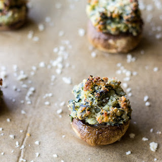 Spinach and Boursin Stuffed Mushrooms.