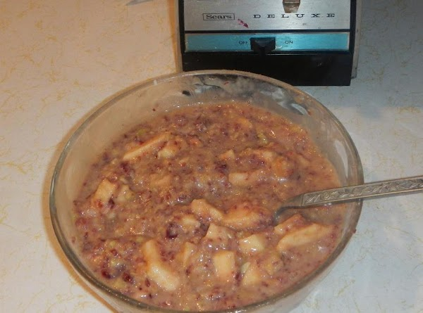 This then made to much for one pie..so I added 1 can of apple...