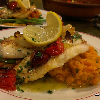 Seared Cod & Roasted Tomatoes with a Tarragon Vinaigrette